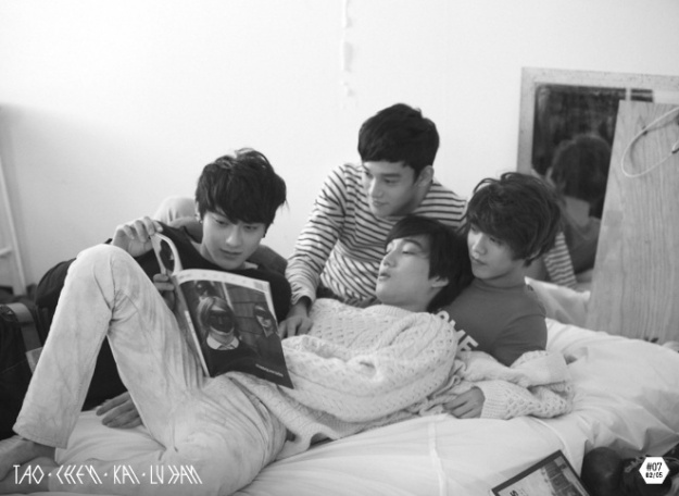 Kai, Lu Han, Tao, and Chen Release EXO's First Group Photos