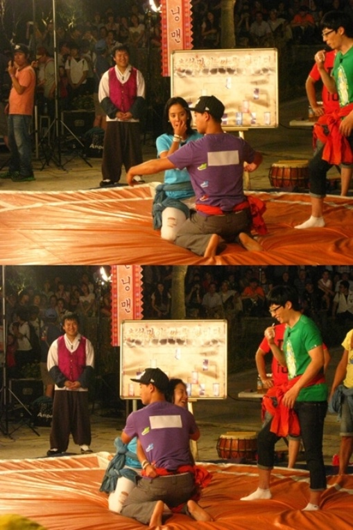 Running Man: Monday Couple has a Romantic Pose for a Wrestling Match