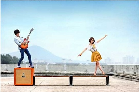"New Jung Yong Hwa & Park Shin Hye Photos for ""Heartstrings"""