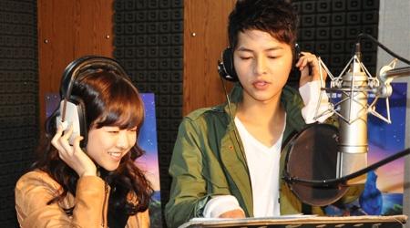 "Song Joong Ki & Park Bo Young Team Up for Animation ""Rio"""