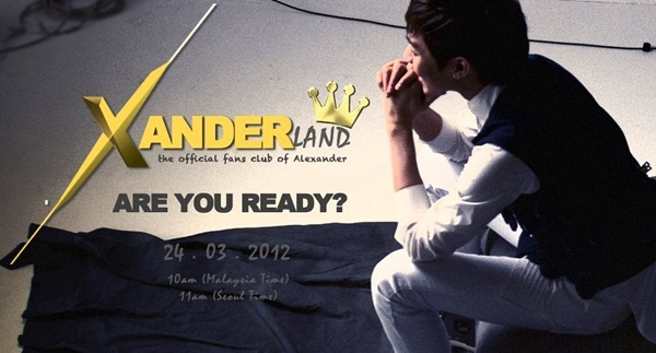 Alexander to Launch Official S.E.A Fan Club