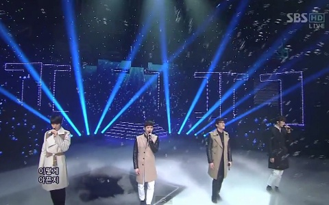 "2AM Has Goodbye Stage for ""I Wonder If You Hurt Like Me"" on Inkigayo"