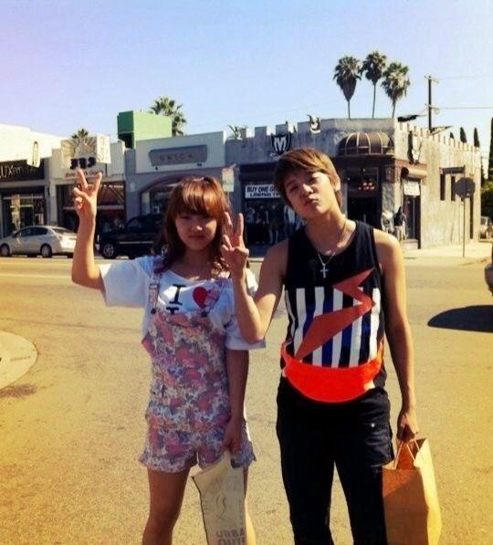 miss A's Min, Suzy and f(x)'s Amber Hang Out in LA