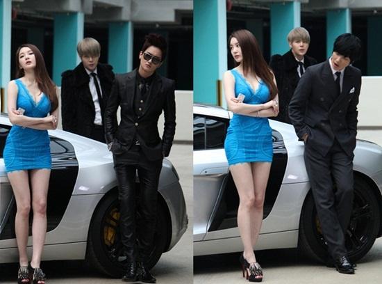 """Davichi Kang Min Kyung Shows Off Glamorous Body for Cho Shin Sung MV """"Stupid Love"""""""
