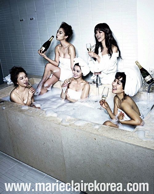 Park Si Yeon's Legs Missing in Tub Photoshoot