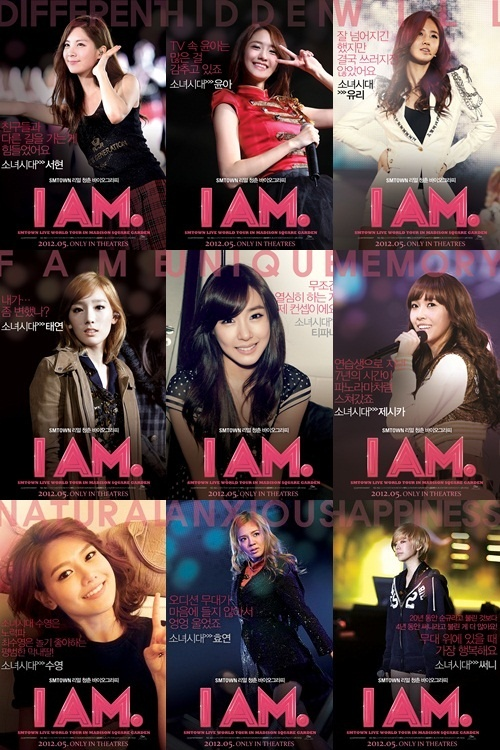 "Girls' Generation Unveils Posters for SM Documentary ""I AM"""