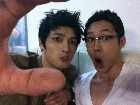 JYJ Yoochun and Jaejoong's Comical Photo Together