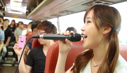 IU and Kim Bum Soo Perform in a Guerilla Bus Concert