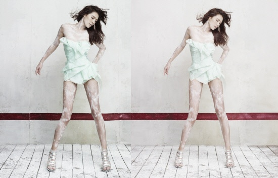 Before and After Photoshop: Kahi's Latest Album Photo