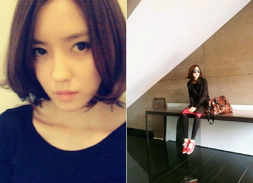 Hyomin Shows Off Shorter Hair Style