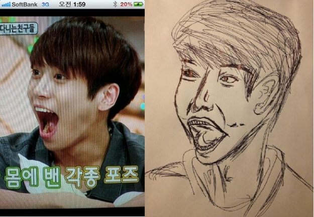 "SHINee's Jong Hyun Shows ""Artistic Soul"" by Drawing Himself"