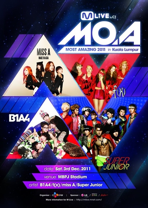Super Junior, f(x), miss A and B1A4 to Perform in Malaysia