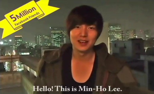 "Lee Min Ho Sends Special Video Message for Passing 5 Mill Facebook ""Likes"""