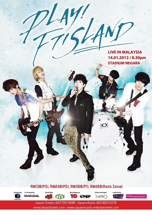 F.T. Island to Hold their First Concert in Malaysia