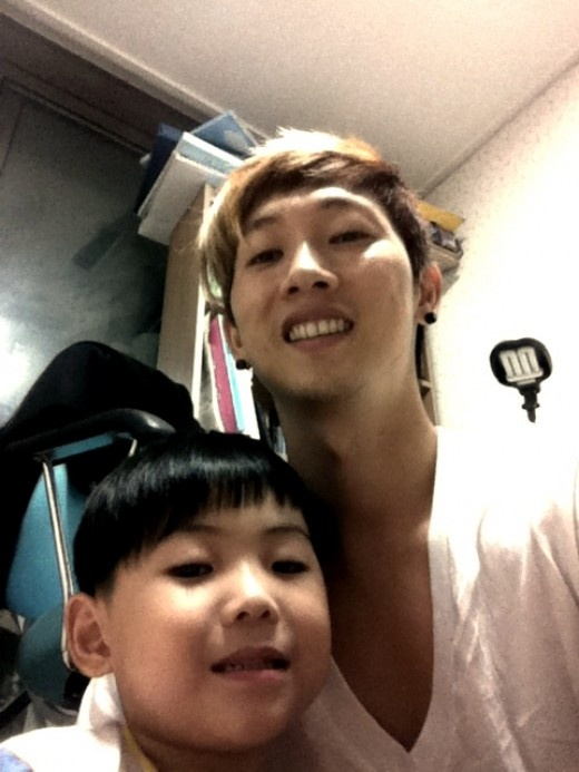 Jang Woo Hyuk Poses with His Nephew