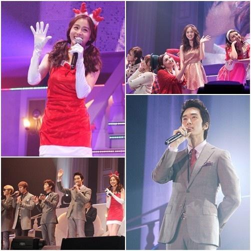 """Kim Tae Hee, Song Seung Heon, Ryu Soo Young, and BEAST's Ki Kwang Reunite for """"My Princess Christmas Concert"""""""