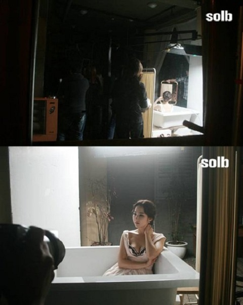 Photos of Park Min Young on Set for Lingerie Photo Shoot Revealed