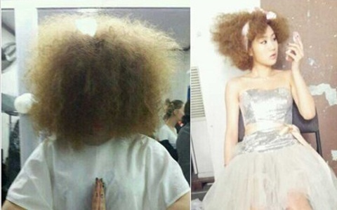 SISTAR's Soyoo Shows Off Her Lion Mane Hairstyle