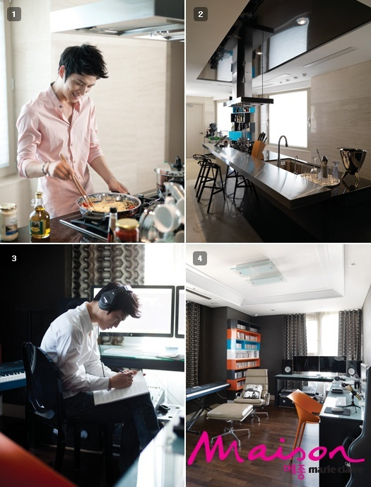 Marie Claire Releases More Pictures of JYJ Jaejoong's Home