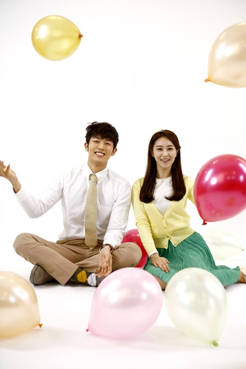 "2AM Seulong and ""Love Rain"" Son Eun Seo's Lovely Spring Couple Photo Shoot"
