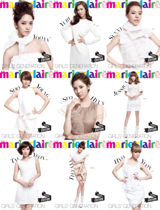 Which SNSD Members' Marie Claire Editions Are Not Sold Out?