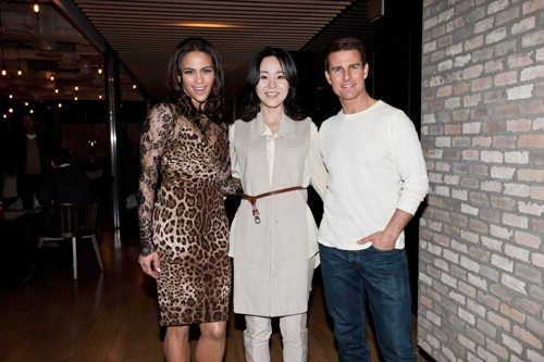 East Meets West: Actress Kim Yun Jin and Tom Cruise