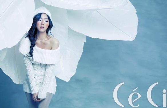 "Shin Se Kyung's ""Snow Goddess"" Photoshoot for Ceci Magazine"