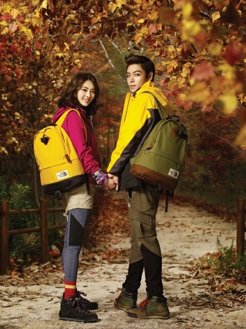 Big Bang's TOP and Lee Yeon Hee's Couple Stills for The North Face