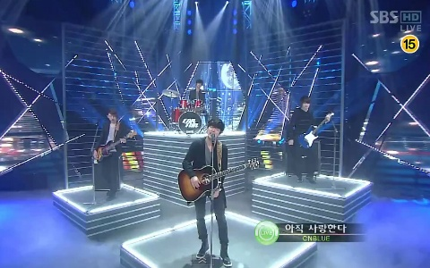 """CNBlue Performs """"Hey You"""" on Inkigayo"""
