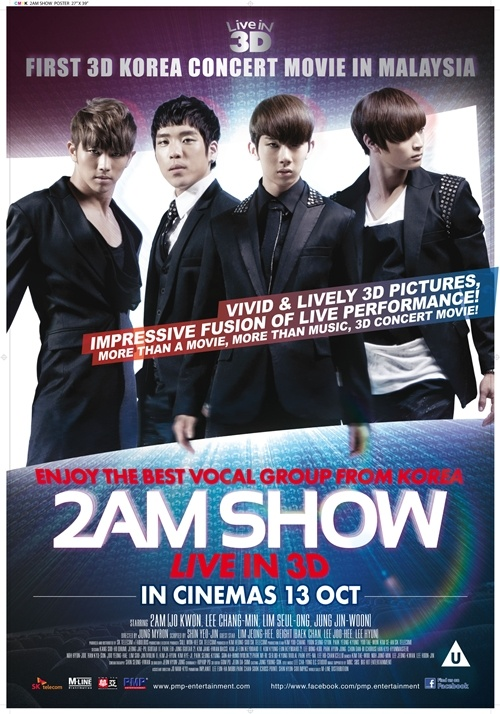 2AM's 3D Movie to Be Screened in Malaysian Theaters in October