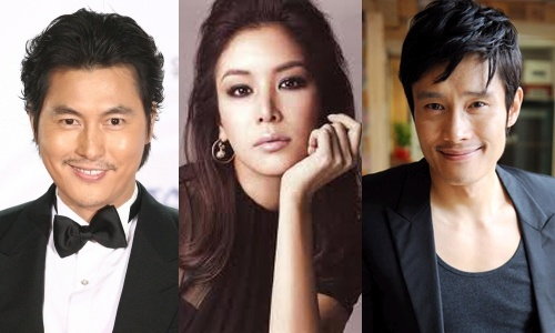 Lee Byung Hun, Jung Woo Sung and Go So Young in NYC