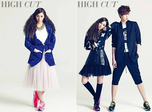 "Lee Jong Suk and f(x) Krystal Reunite for ""High Cut"""