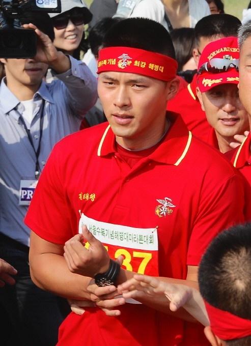 Hyun Bin Participates in a Marathon