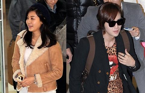 Kim Ha Neul and Jang Geun Suk's Airport Fashion