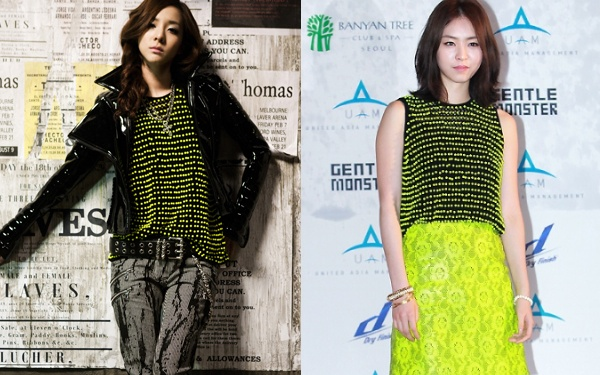 Who Wore It Best: Neon Yellow Beaded Top Edition