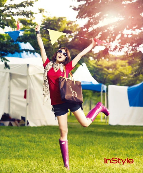 Park Shin Hye's Colorful and Edgy Festival Look!