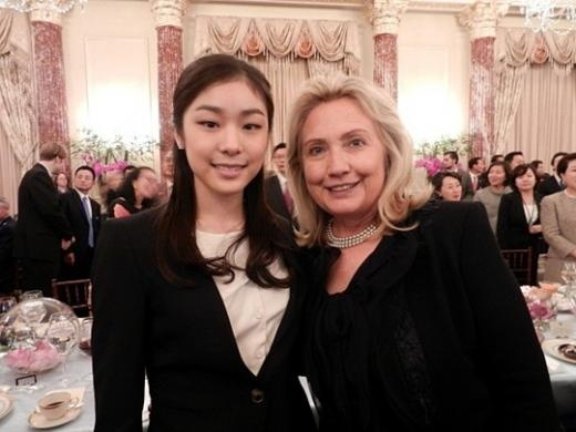 Kim Yuna and Hillary Clinton Together