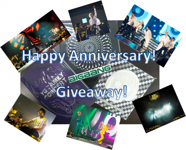 BIG BANG 5th Anniversary Weekend Giveaway WINNERS!
