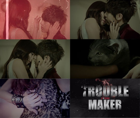 HyunA and Hyun Seung Get Steamy for Trouble Maker's First Teaser Video