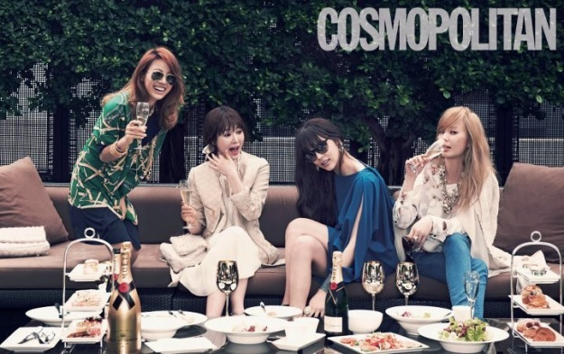 "Lee Hyori, Ahn Hye Kyung, Park Si Yeon and Maybee for ""Cosmopolitan"""