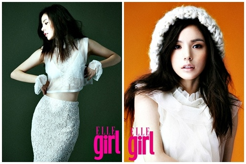 Min Hyo Rin Shows Her Dual Charms for Elle Girl