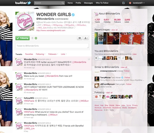 The Wonder Girls Announce Their New Twitter Username