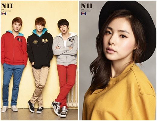 JYJ and Min Hyo Rin for NII in 2012