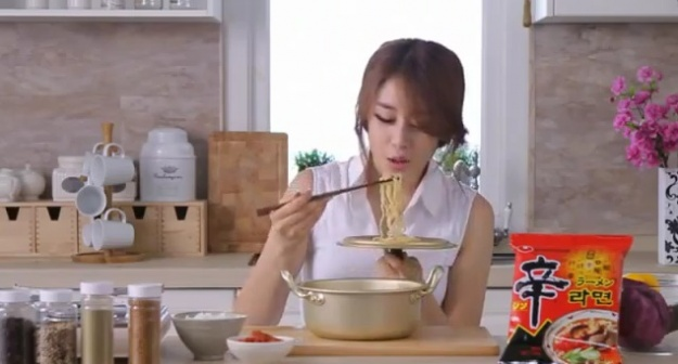 "Japanese Netizens Call T-ara's Jiyeon ""Barbaric"" for Noodle CF"
