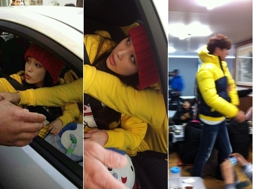 """IU Caught on Camera While Filming on """"Running Man"""""""
