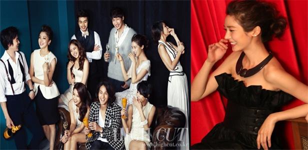 Sung Yuri & King Kong Entertainment Artists for High Cut + BTS