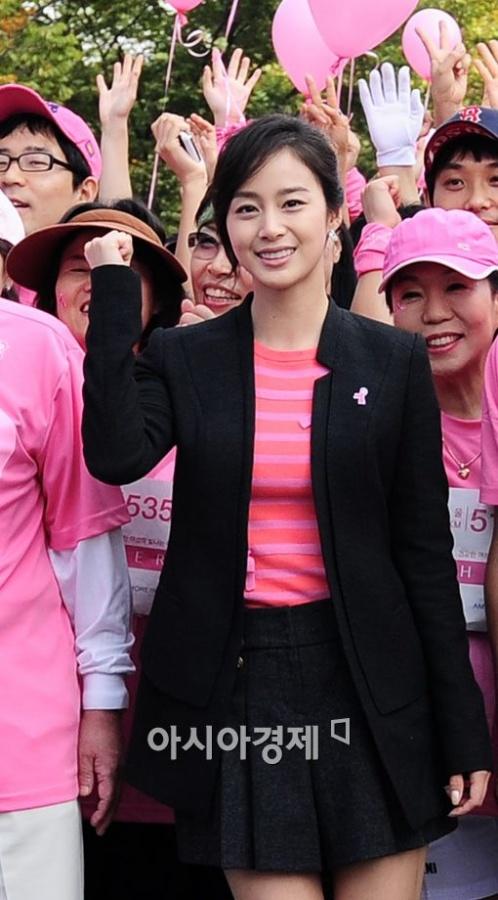 Kim Tae Hee at 2010 Pink Ribbon Marathon