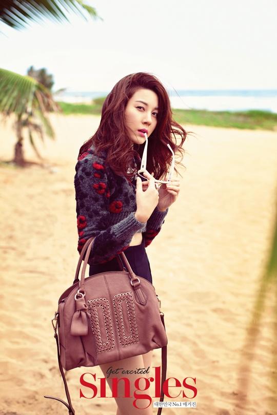 Kim Ha Neul Enjoys a Hawaiian Summer for Singles Magazine