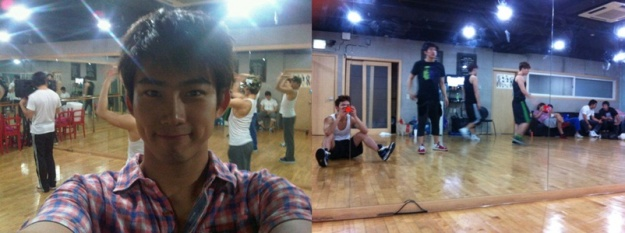 Jo Kwon and Taecyeon Share Pictures Practicing for JYP Nation Concert