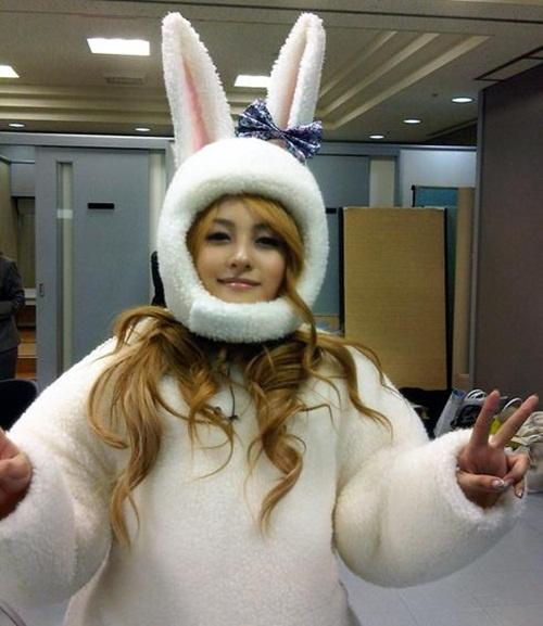 KARA Gyuri Turns into a Cute Bunny
